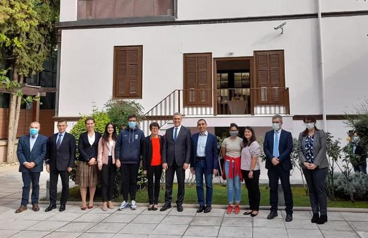 Atina Büyükelçisi Özügergin BioNTech kurucularını ağırladı